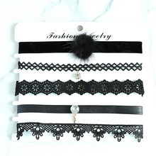 fashion trendy jewelry choker necklace set gift for women girl