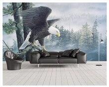 цена beibehang New Chinese fashion classic 3d wallpaper eagle wings geometric background decorative painting wall papers home decor онлайн в 2017 году