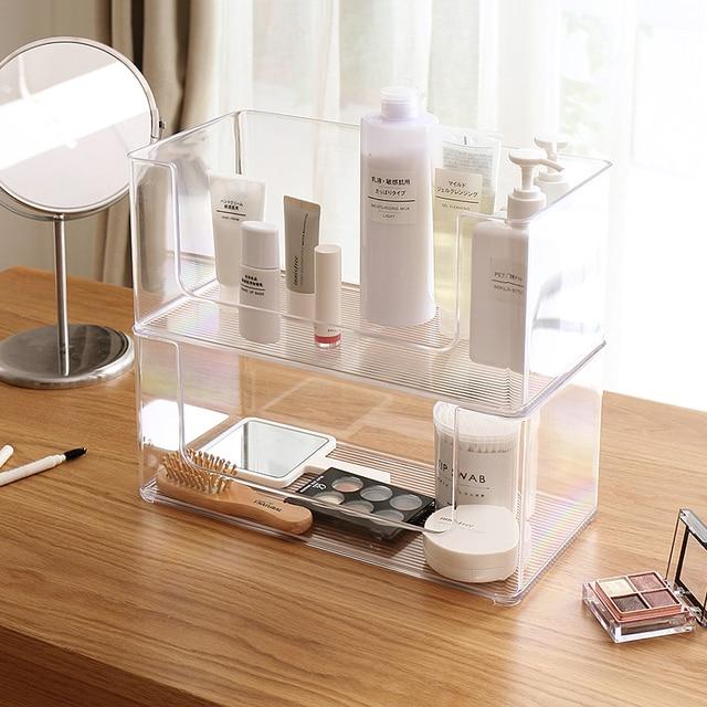 2019bathroom With Kitchen Transpa Acrylic Cosmetic Desk Makeup Organizer Case Storage Drawer Insert Jewelry Box Holder 65338
