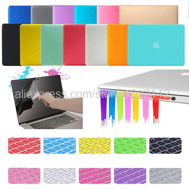 """4in1 Matte Hard Crystal Glossy Case Cover + Keyboard Skin + Screen Protection + Dust plug For 11"""" 13"""" 15"""" Macbook Air Pro Retina"""