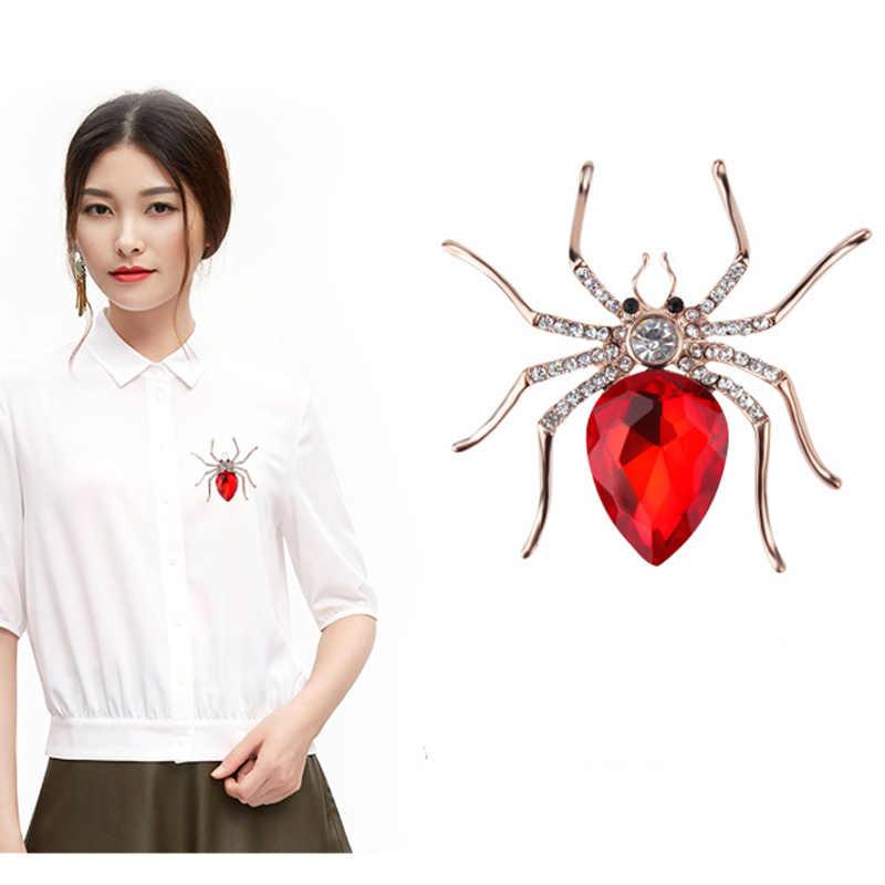 MIEG คุณภาพสูงสีสารพันคริสตัลหางแมงมุมเข็มกลัด Pin ผู้หญิงเสื้อชุดเครื่องประดับอุปกรณ์เสริม