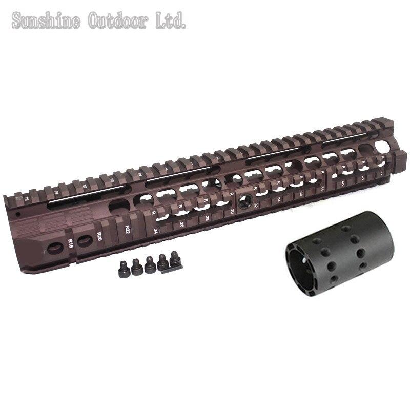 ФОТО Integral Aluminum Picatinny Rail 12.6 inch Handguard Rail System for AEG M4 / M16 CB