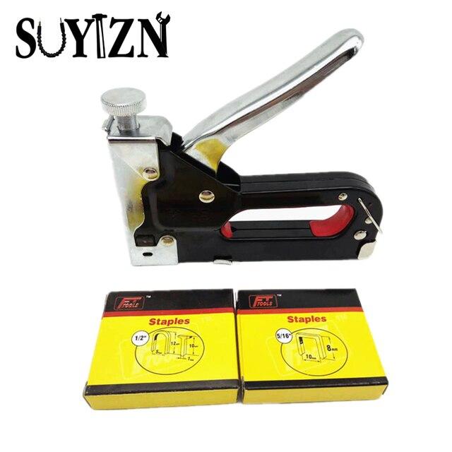 Multifunction Nail Gun 3 Ways Code Nails Manual Nail Staple Gun For Wood  Furniture Door Upholstery