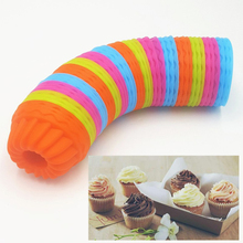 12PC/Lot 3D Cake Cup Silicone Muffin Cups Cupcake Mold Baking Tools Decorating For Bakeware Cupcakes Stencil