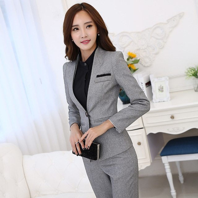 Women Evening Pant Suits Hot Sale 2016 Autumn And Winter Fashion Dress Suit With Korean Ol Occupation Ms. Slim Sleeved Leggings
