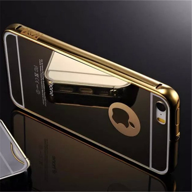 check out 54543 d544f US $13.99 |For Iphone 5 Case,Luxury Gold 24K Gold plating aluminum frame +  Acrylic PC Clear Back Cover Covers For Iphone 5 5s Case Fundas on ...