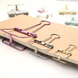 Креативные милые цветные металлические зажимы для бумаги Kawaii, школьные принадлежности, корейские канцелярские принадлежности, студенческ...