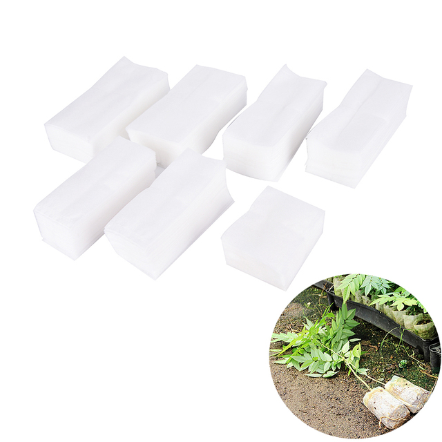 100 Pcs Full All size Biodegradable Plant-Fiber Nursery Pots Seedling-Raising Bags Environmental Protection Non-woven Grow bag
