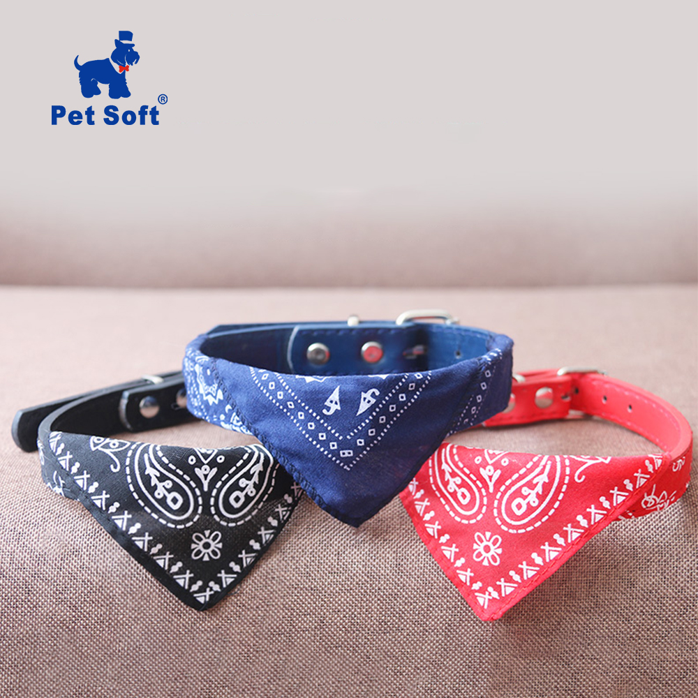 Pet Soft Adjustable Pet Cat Scarf Collars Neckerchief Necklace Trigon Pet Accessories Small Dog Scarf Adjustable Pet Cat Collars