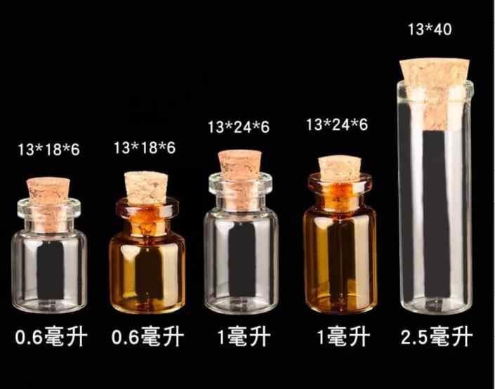 01f4a078c3d8 50pcs/lot 0.6ml 1ml 2.5ml Test Tube Glass Bottles Small Bottles ...