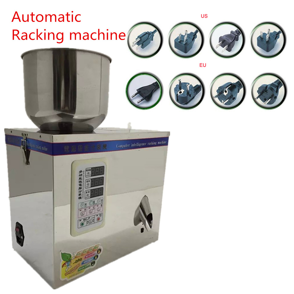 Filling Racking machine 1~50g 220V Automatic Weighing with Vibration Small Granular Pack Food package Racking machine cursor positioning fully automatic weighing racking packing machine granular powder medicinal filling machine accurate 2 50g