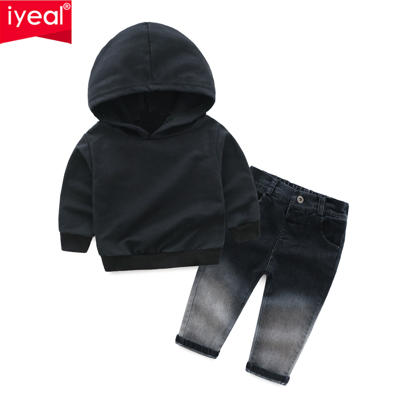 IYEAL Children Clothing 2018 Autumn Winter Boys Clothes Hoodies+Jeans 2pcs Outfit Kids Baby Sport Suit For Boys Clothing Sets children boys clothes 2018 autumn winter girls clothes batman costume hoodie pant outfit kids sport suit for girls clothing sets