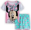 Nuevo Estilo Del Verano Minnie Mickey Niños Superman Pijamas Del Bebé Pijamas Pijamas de Los Niños Muchachas de la Historieta Pijamas Niños Clothing set