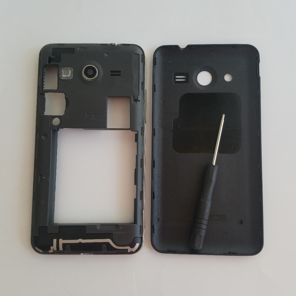 For <font><b>Samsung</b></font> Galaxy Core II 2 <font><b>SM</b></font>-<font><b>G355H</b></font> G355 <font><b>G355H</b></font> Original New Phone Housing Middle Frame Chassis With Back Panel <font><b>Case</b></font> + Tool image