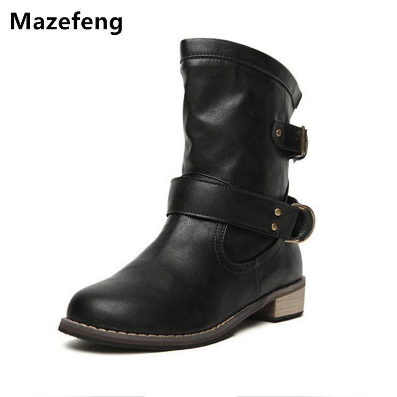 2017 Autumn Spring New Female Flats Women Boots Shoes Motorcycle boots Women Casual Boots High quality Flat Ankle Boots Fashion new 2015 fashion high quality lazy shoes women colorful flat shoes women s flats womens spring summer shoes size eu35 40wsh488