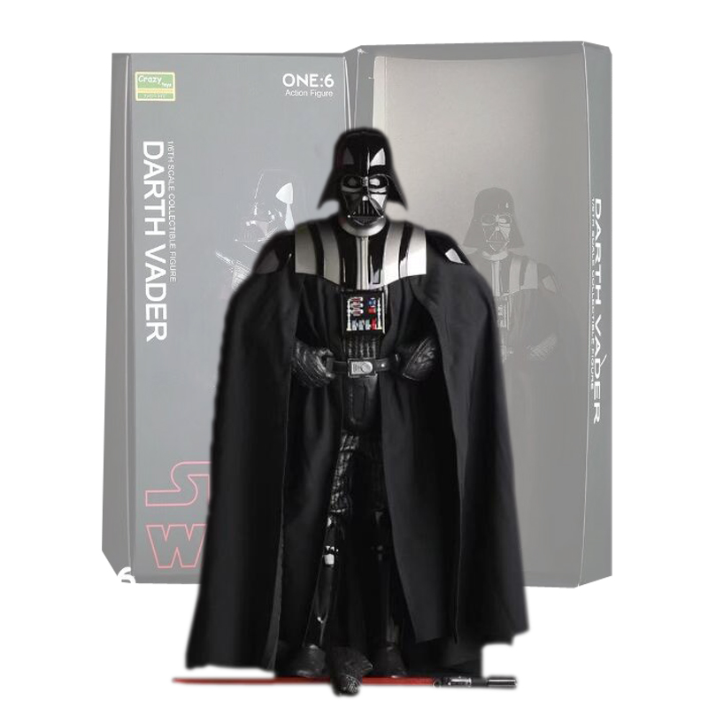 Crazy Toys Star Wars Figure Darth Vader PVC Action Figures Collectible Model Toy 26cm Free Shipping free shipping 6 styles cute kids cheese cat action figures mini cat pvc toys figures model toy best decoration for children