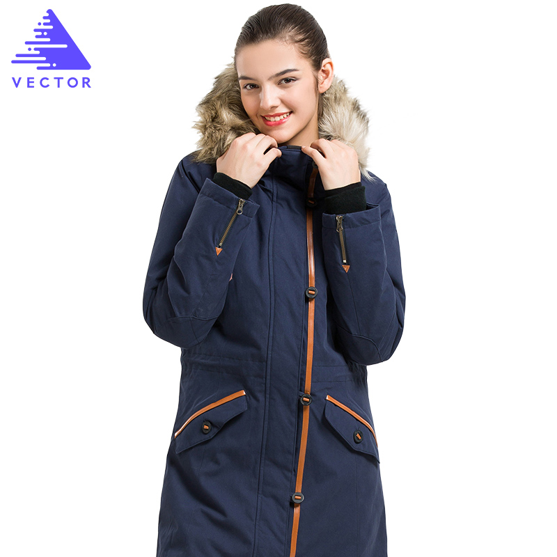 VECTOR Winter Outdoor Jacket Women Thermal Waterproof Jacket Ladies Cotton Ski Jacket Female Camping Hiking Jackets 60028 women winter 2 pieces inside cotton padded jackets outdoor sport waterproof thermal coats hiking ski camping female jacket vb019