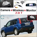 3 in1 Special Rear View Camera + Wireless Receiver + Mirror Monitor DIY Backup Parking System For Nissan X-Trail XTrail X Trail