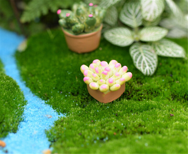 Adorable 1:12 Resin Miniature Plants For Doll House
