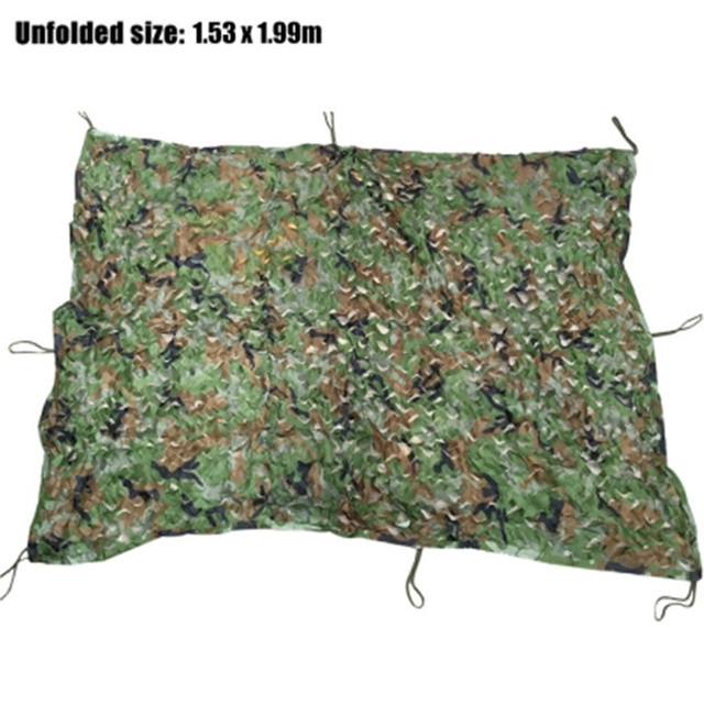 Hunting Camping Sunshade Camo Net 1.53M x 1.99M Woodland Military Car Cover Hunting Camping Tent Camouflage Net Netting 2017 New