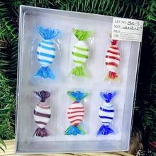 6pcs new custom antique art handmade murano glass sweets wedding candy christmas tree decoration gifts