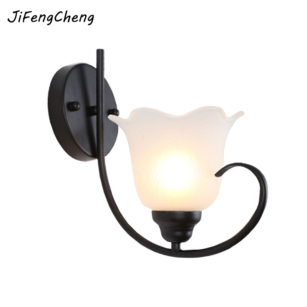 JiFengCheng  LED Wall Mounted Bedside Lamps  E27 Energy Saving Lamp for  Bedside Reading Loft Lights Hooks on The Wall 110/220V e27 15w trap lamp uv spiral energy saving lamps purple white