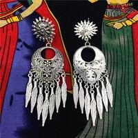 Oryginalny Design Indie Bollywood Kitki Stud Earrings. etniczny Handmade Starożytny Przesadne Ozdoby Biżuteria Belly Dance Lslamic
