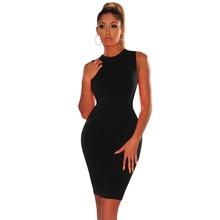 купить Summer Women's Dresses Solid Color Sexy Bodycon Dress Female O Neck Sleeve Sundress Casual OL Elegant Mini Vestido de festa Club по цене 622 рублей