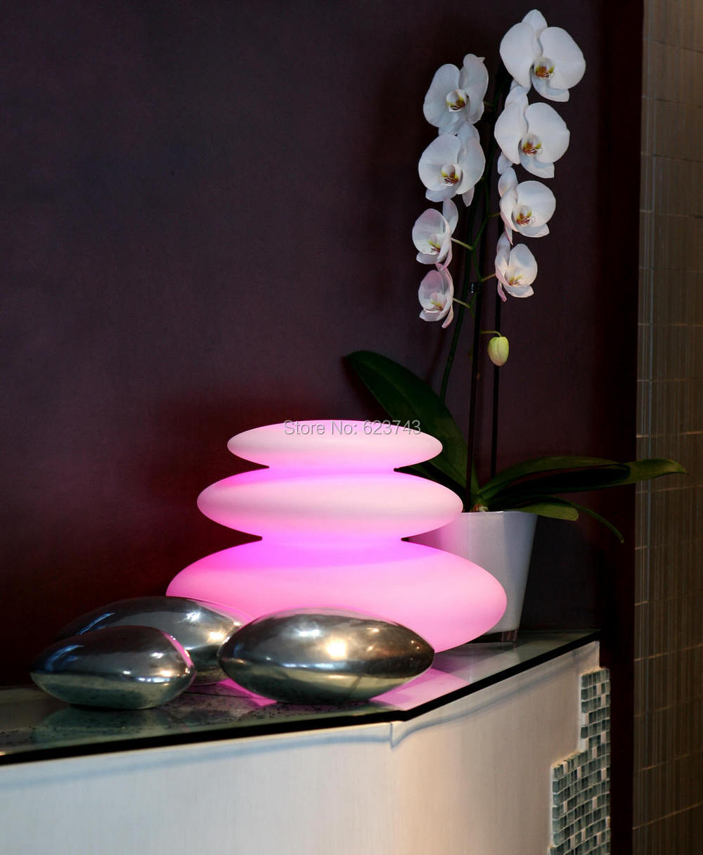 4Pcs/Lot Multi Colors LED Zen Modern Indoor Outdoor Lighting Rechargeable  Glowing LED Tower Decor Lamp Pebble Light Waterproof In Outdoor Wall Lamps  From ...