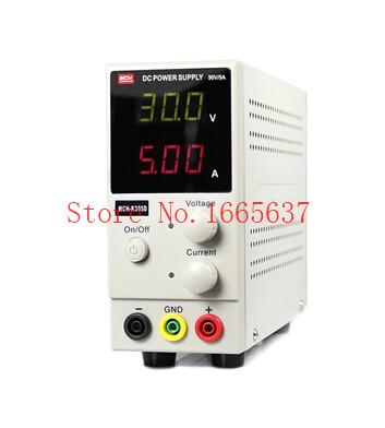 FREE SHIPPING New MCH-K305D Mini Switching Regulated Adjustable DC Power Supply SMPS Single Channel 30V 5A Variable MCH K305D цена