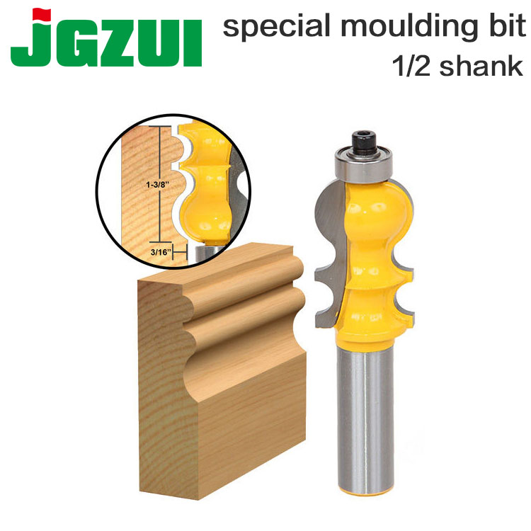 1PC Casing & Base Molding Router Bit - 1/2