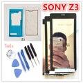 Белый Черный Для Sony Xperia Z3 D6653 D6603 D6633 D6683 SOL26 ЖК-Дисплей С Сенсорным Экраном Дигитайзер Ассамблеи + клей бесплатная доставка