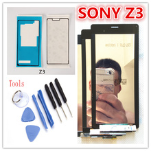 White Black For Sony Xperia Z3 D6653 D6603 D6683 D6633 SOL26 LCD Display Touch Screen Digitizer Assembly+adhesive free shipping
