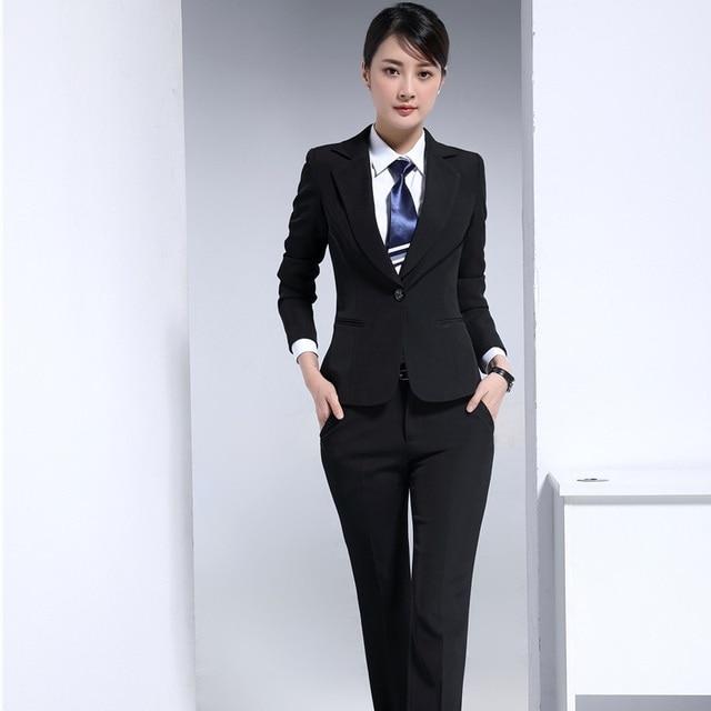 Autumn Winter Formal Professional Uniform Design Blazers Pantsuits ...