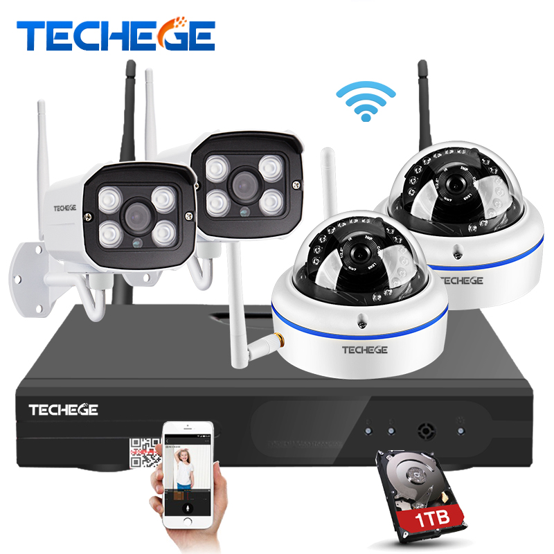bilder für 4CH 1080 P Wireless NVR Kit Plug & Play P2P 2.0MP 1.0MP CCTV System Outdoor indoor IR 20 mt Nachtsicht Ip-kamera Überwachung Kits