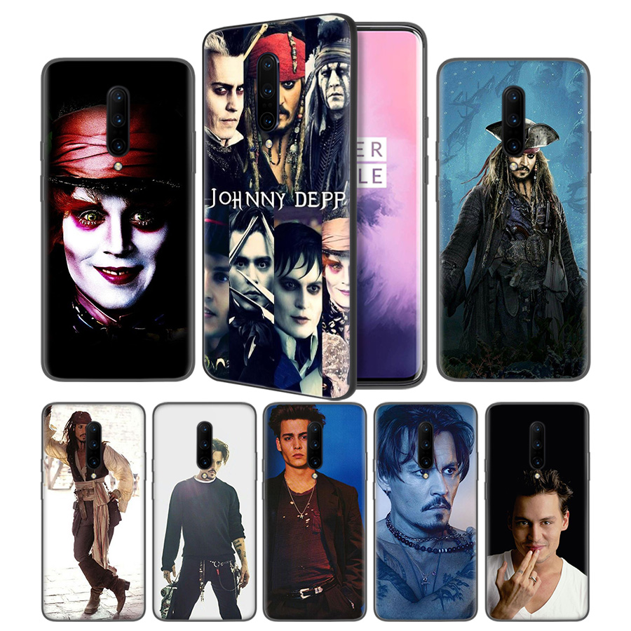 johnny depp Soft Black Silicone Case Cover for font b OnePlus b font 6 6T font