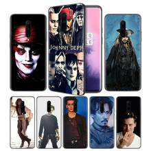 johnny depp Soft Black Silicone Case Cover for OnePlus 6 6T 7 Pro 5G Ultra-thin TPU Phone Back Protective