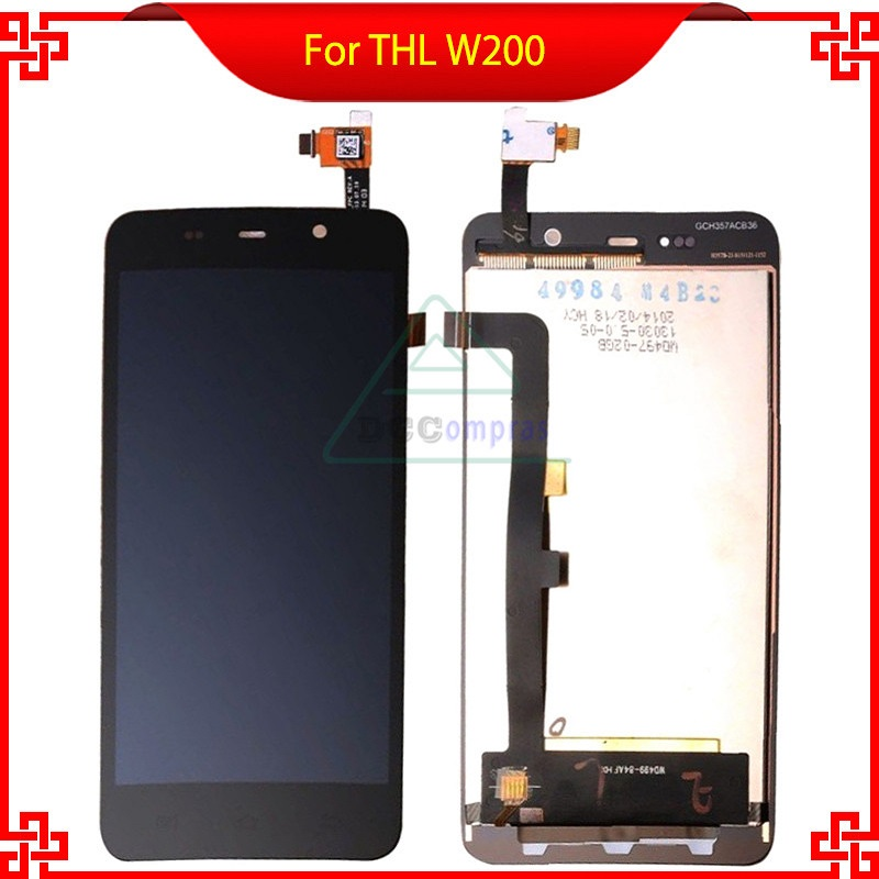 100 Original THL W200 Display Lcd Digitizer Touch Screen For THL W200 W200S W200C 1280x720 5