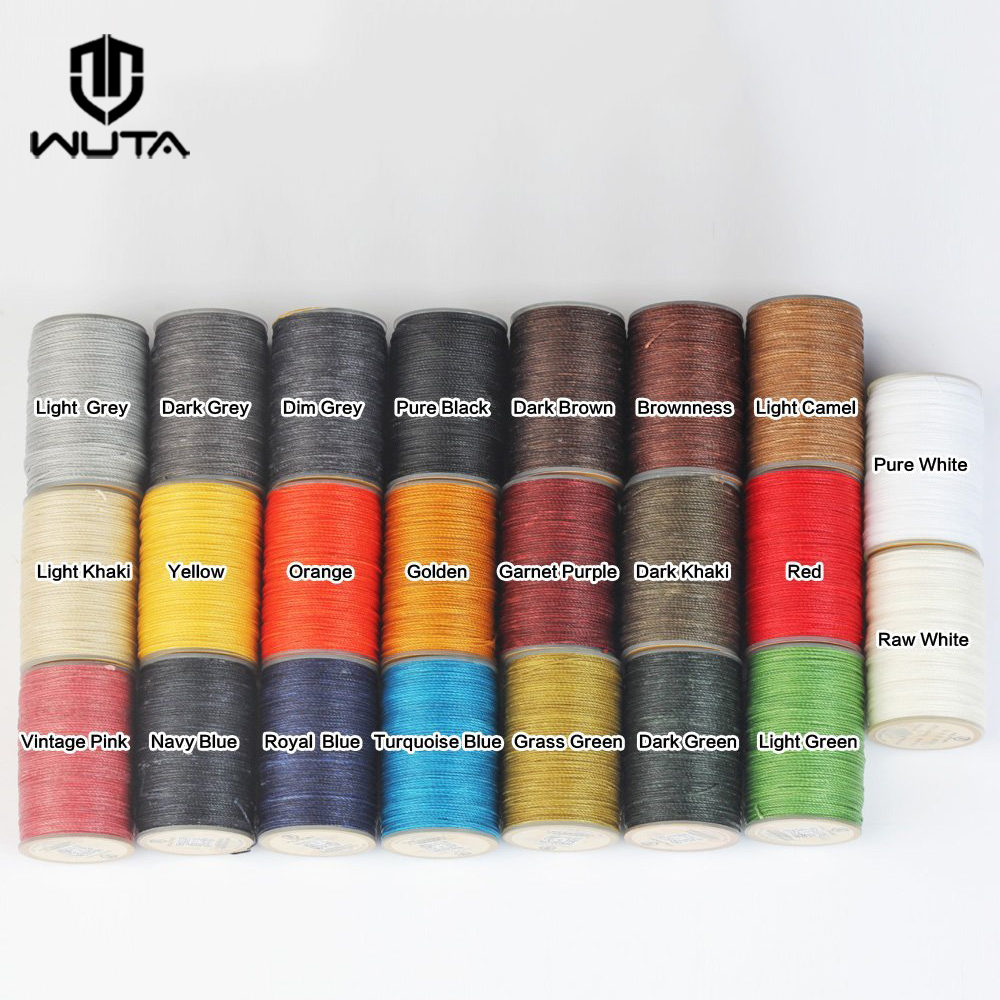 WUTA 0.65mm Waxed Thread Polyester 23 Colors Hand Sewing Cord Leather Craft Tools 3 Thread Twisted Together/not Easy To Scatter