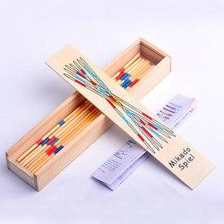 Zabawki edukacyjne dla dzieci drewniane tradycyjne Mikado Spiel dzieci wczesna edukacja interakcja gra Pick Up Sticks gra zabawki na imprezę|Zabawki matem.|   -