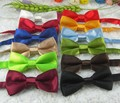 30 cores frete grátis para Crianças Atacado IMITADO bowties SEDA/das Crianças Cor Sólida Bow Tie 1000 pçs/lote