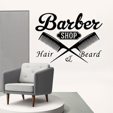 Free shipping barber shop Home Decoration Accessories For Baby Kids Rooms Decor Wall Art MURAL Drop Shipping