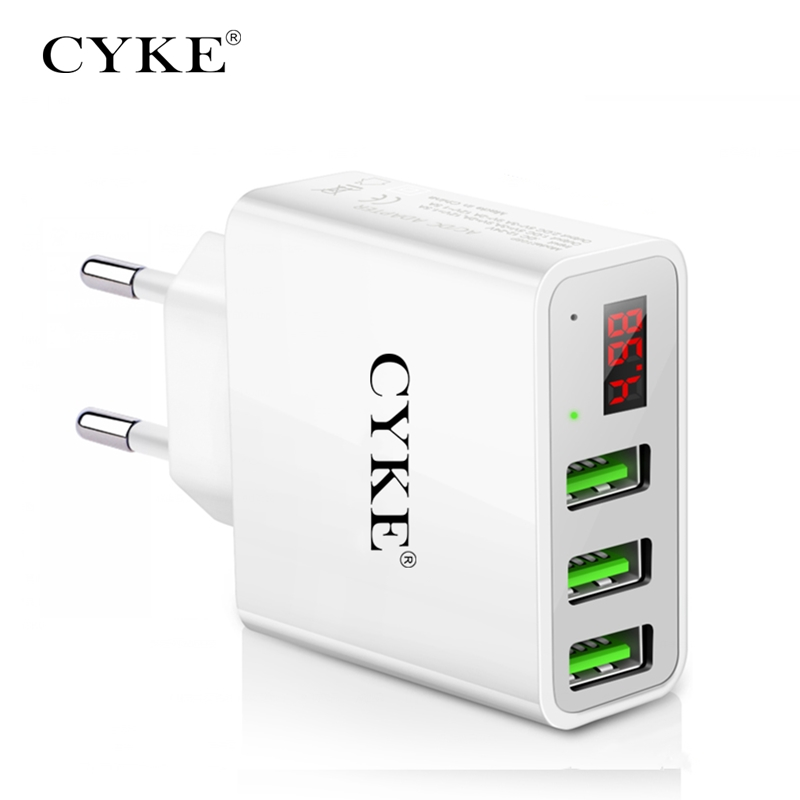 CYKE Portable Charging Phone Charger,Universal 5V/3A USB Power Adapter Wall Charger For Huawei P20 lite pro Xiaomi Mi6X etc