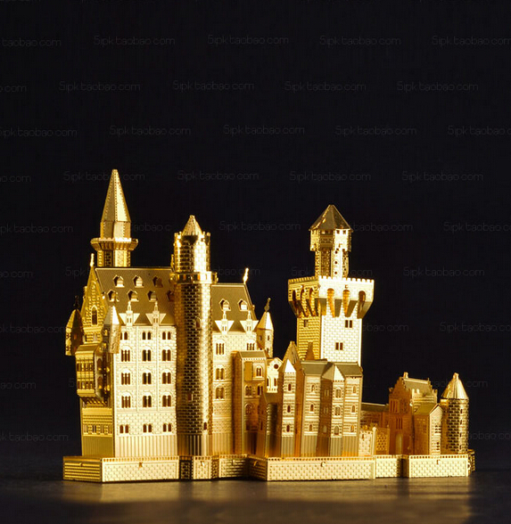New Arrivals Juguetes Educativos DIY 3D Metal Puzzle Neuschwanstein Castle Model For Children/Adult education toys Model
