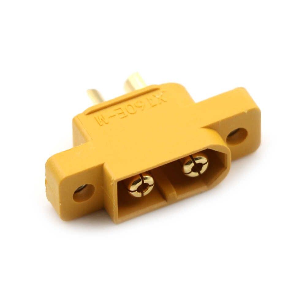 Amarillo XT60E-M conector macho montable XT60 para modelos RC multicóptero tablero fijo DIY piezas de repuesto de Control remoto de juguete