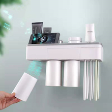 Creative Household Toothbrush Holder Rack Magnetic Wall-Mounted Bathroom Storage Accessories Set