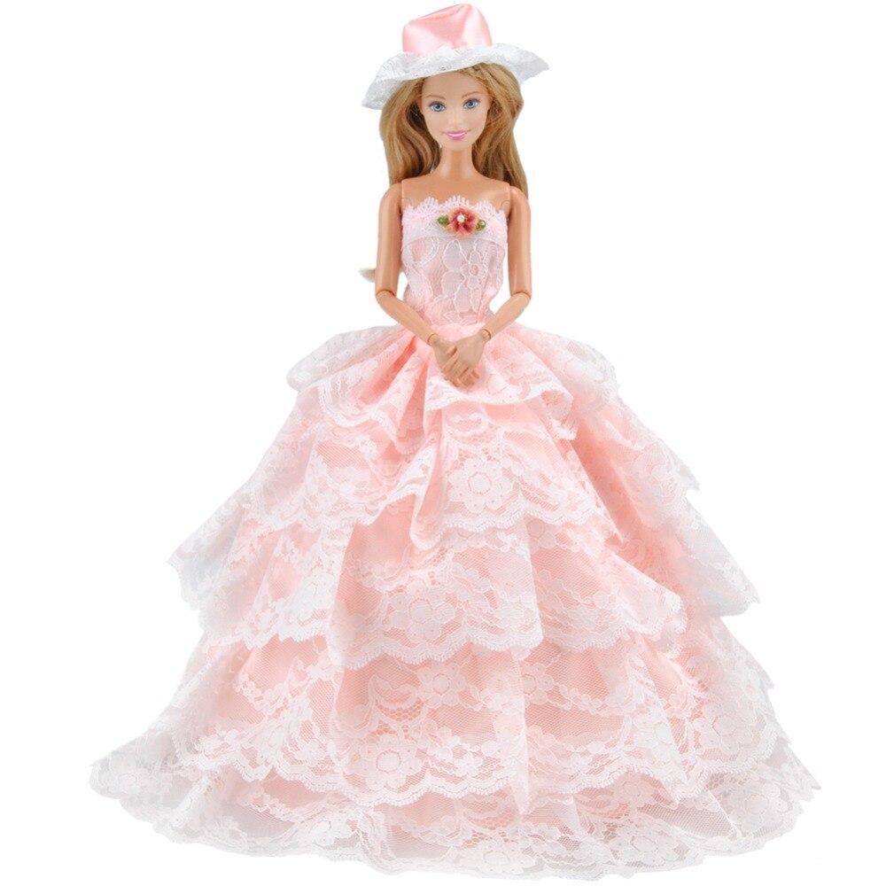 Melocotón de La Manera E-TING Encaje Vestido Para Barbie Girls ...