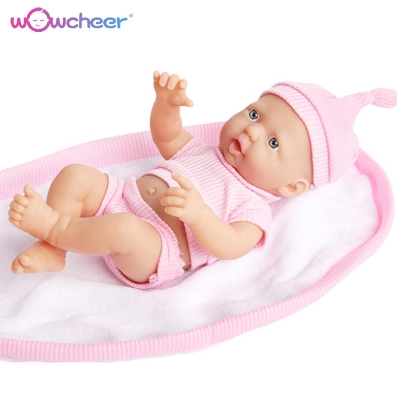 WOWCHEER Handgemachte Neue Reborn Baby Puppe Lebensechte Weiche Silikon Puppen Kawaii Lebendig Spielzeug für Mädchen Kinder 23-50 cm mit Geschenk