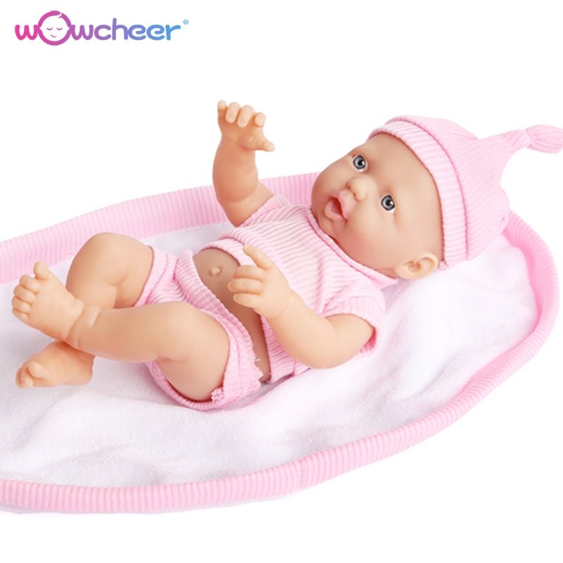 WOWCHEER Handmade New Reborn Baby Doll Lifelike Soft Silicone Dolls Kawaii Alive Toys for Girls Children