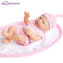 WOWCHEER ручной работы Новый Reborn Реалистичная кукла-младенец Мягкие Силиконовые Куклы Kawaii живые Игрушки для девочек Дети 23-50 см с подарком